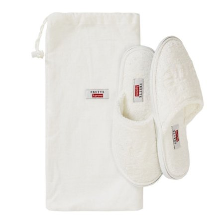 "Supreme x Frette Chinelo Slippers ""White"""