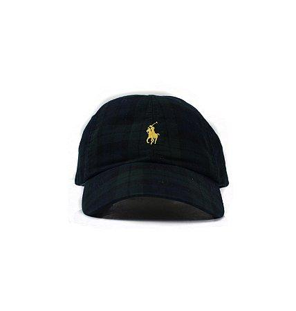 """Polo Ralph Lauren - Boné Baseball Check """"Navy/Green"""""""
