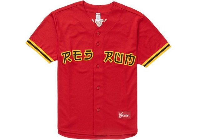 SUPREME - Camiseta Red Rum Baseball ''Red''