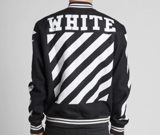 "OFF-WHITE - Jaqueta Letterman ""Black/White"""