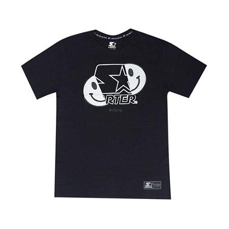 """SUFGANG x Starter - Camiseta Smile Glow in The Dark """"Black"""""""