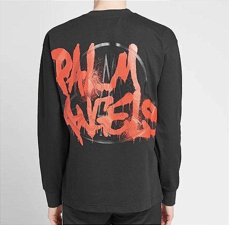 """Moncler Genius x Palm Angels - Camiseta 8 MONCLER Logo """"Black"""""""