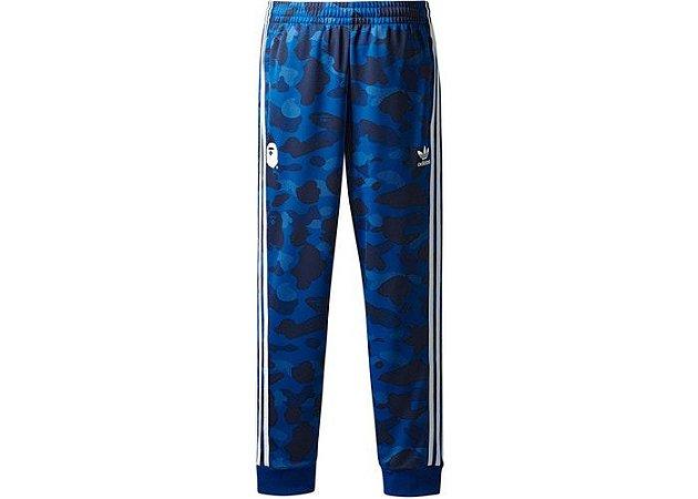 """adidas x Bape - Calça Adicolor """"Blue"""""""