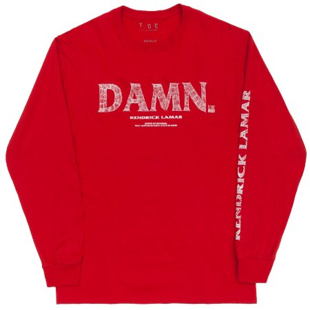 "T.D.E x Kendrick Lamar - Camiseta Manga Longa DAMN ""Red"""