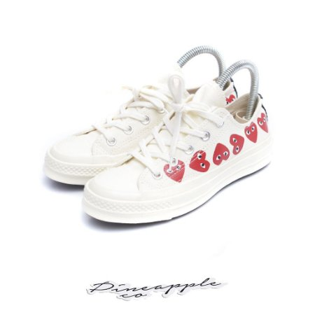 "Converse Chuck 70 Low x Comme des Garcons PLAY ""Multi Heart"""