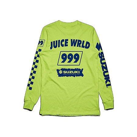 "JUICE WRLD X SUZUKI - Camiseta Manga Longa Death Race For Love ""Green"""