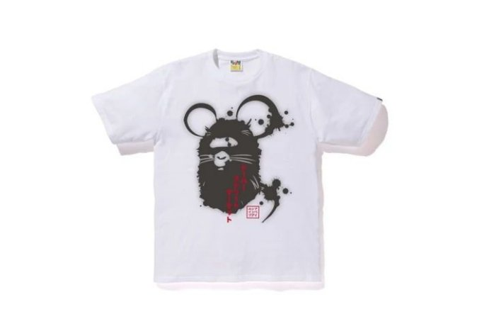 "BAPE x DOVER STREET MARKET- Camiseta Year Of The Mouse ""White"""