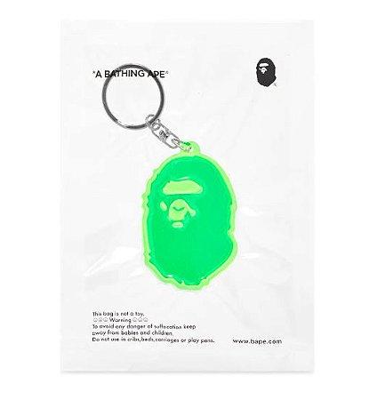 "BAPE - Chaveiro A Bathing Ape Head Reflectivo ""Green"""