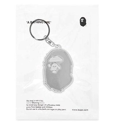"BAPE - Chaveiro A Bathing Ape Head Reflectivo ""White"""