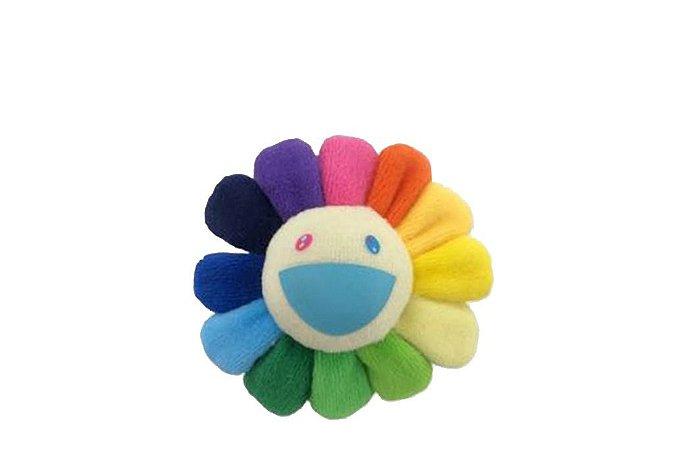 """KAIKAI KIKI - Pin Takashi Murakami Flower Plush """"Rainbow/White"""""""