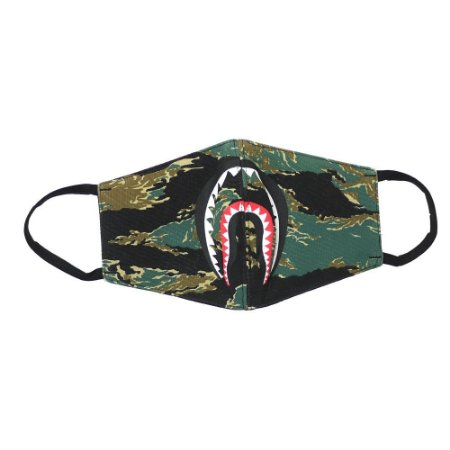 """BAPE - Máscara Tiger Camo Shark """"Green"""""""