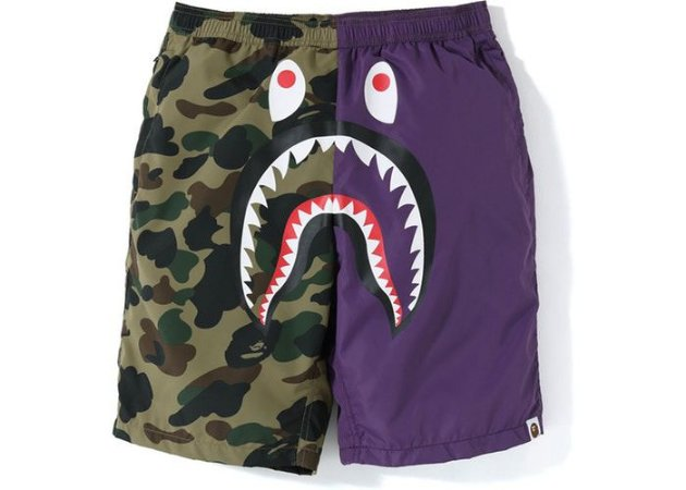 "BAPE - Bermuda A Bathing Ape 1st Camo Shark Beach ""Purple/Green"""