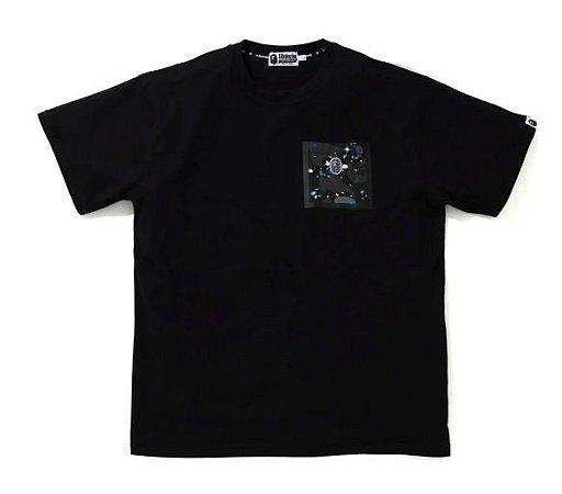 "BAPE - Camiseta Relaxed Space Camo Pocket ""Black"""