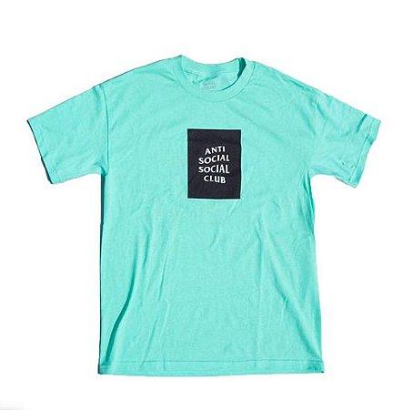 "ANTI SOCIAL SOCIAL CLUB - Camiseta Box Logo ""Verde Água"" -NOVO-"