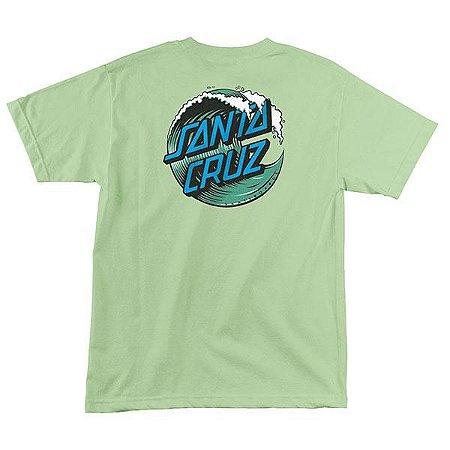 "SANTA CRUZ - Camiseta Great Wave Dot ""Mint"""