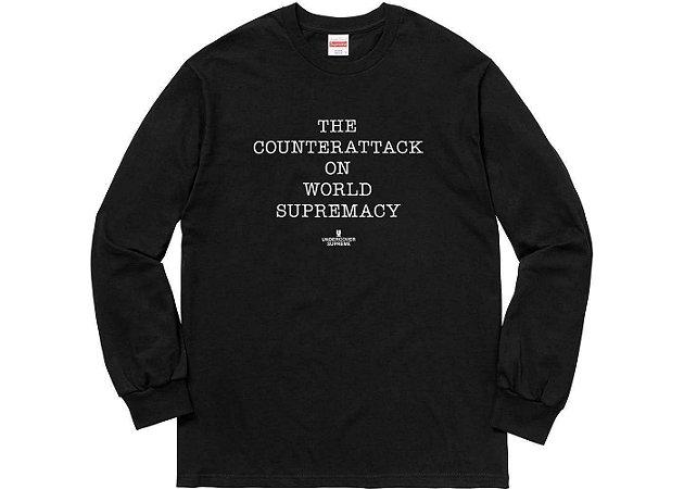 "SUPREME x UNDERCOVER - Camiseta Manga Longa Public Enemy Counter Attack ""Black"""