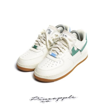 "Nike Air Force 1 Vandalized ""Sail/Mystic Green"" -USADO-"
