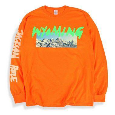 """KANYE WEST - Camiseta Manga Longa Wyoming """"Orange"""""""