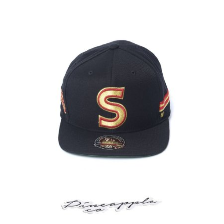 "MITCHELL & NESS - Boné NBA First Gold S Logo Sixers Fitted ""Black/Gold"""