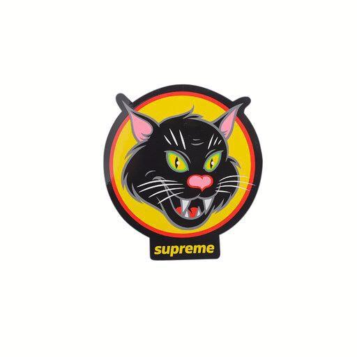 SUPREME - Adesivo Black Cat