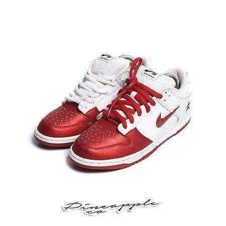 "Nike SB Dunk Low x Supreme Jewel Swoosh ""Red"" -USADO-"