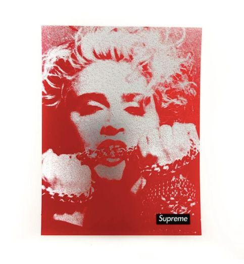 SUPREME - Adesivo FW18 Madonna Photo Metallic