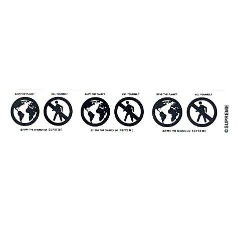 SUPREME - Adesivo FW19 Save The Planet Mini