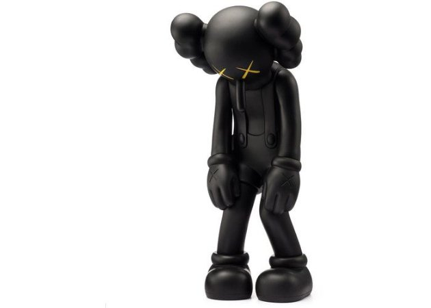 "KAWS - Boneco Small Lie Companion Vinyl ""Black"""