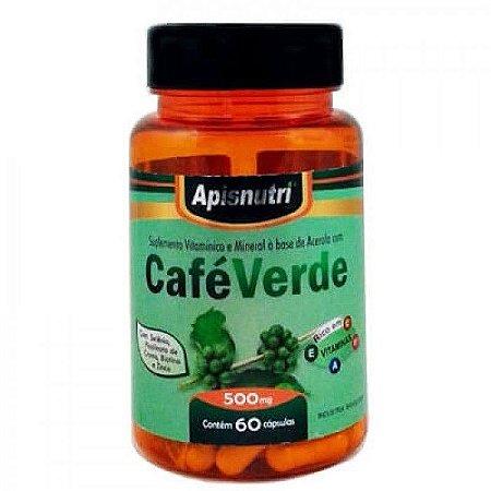 Cafe Verde 60 Cápsulas 500 mgs  - Apis Nutri