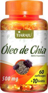 Oleo de Chia 70 caps 500 mgs - Tiaraju