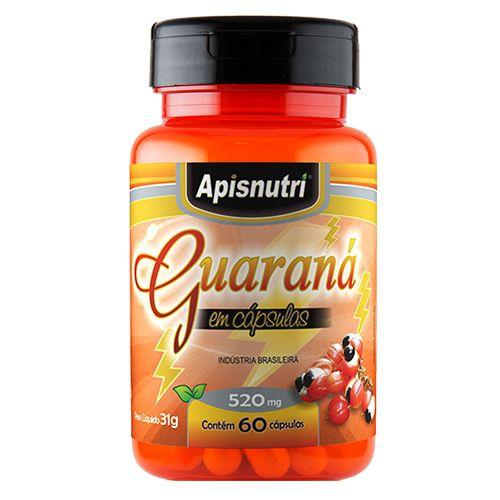 Guaraná 60 Cápsulas 550 mgs - Apis Nutri