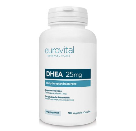 DHEA 25mg 180 Cápsulas - Eurovital