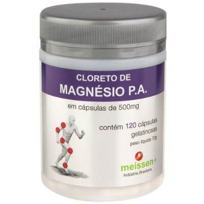 Cloreto de Magnésio 500 mg 120 Cápsulas- Meissen