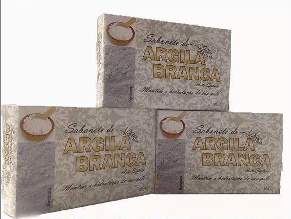 Sabonete de Argila Branca 90 Gr 3 unidades-Bionature