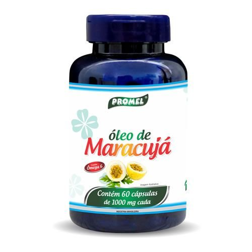 Óleo de Maracujá 60 Caps 1000 mg-Promel