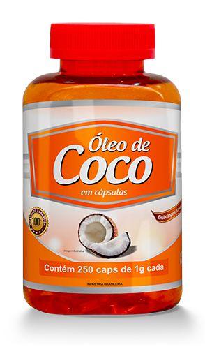 Oleo de Coco 250 Caps 1000 mg -Promel