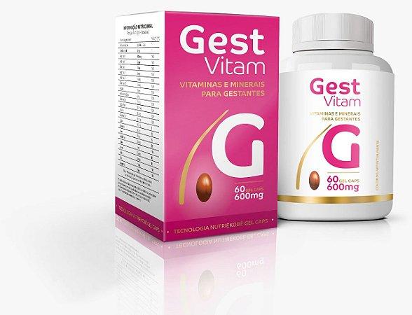 Gest Vitam Vitaminas e Minerais para Gestantes 60 Cápsulas- Ekobé