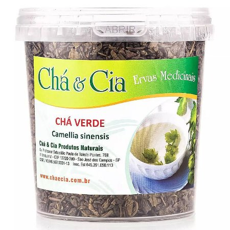 Chá Verde- Camellia Sinensis- Pote 150 grs- Cha e Cia
