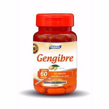 Gengibre Pó 60 Cápsulas 500 mgs - Promel
