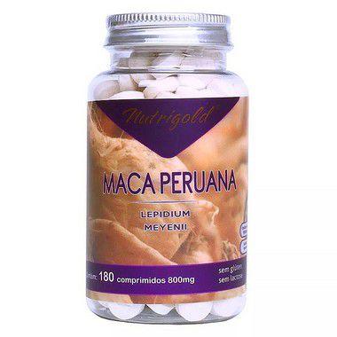 Maca Peruana Super Potente 800 mg 180 Comprimidos - Nutrigold
