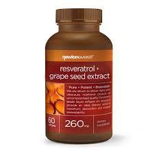 Resveratrol e Uva 60 caps- 260 mg- Newton Everett