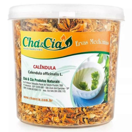 Calendula-Calendula Officinalis-Pote 40 grs- Cha e Cia