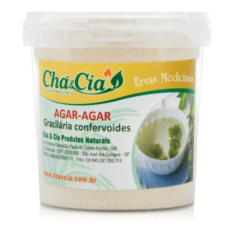 Agar Agar-Gracilaria Confervoides-Pote 100 grs- Cha e Cia