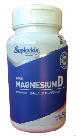 Magnésio Dimalato 60 Caps-260 mg- Suplevida