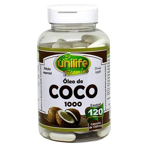 Oleo de Coco 1000 mg - 120 Capsulas - Unilife