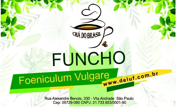 Funcho - Foeniculum Vulgare - 250 grs - Cha do Brasil