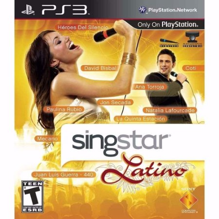 Game Singstar Latino PS3 com microfone