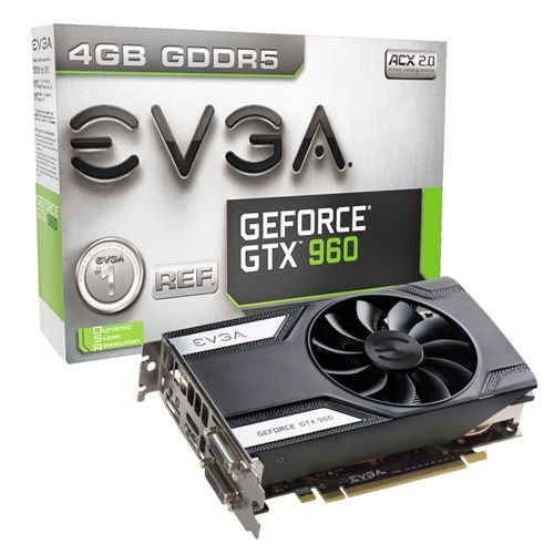 Placa de Vídeo VGA EVGA GeForce GTX 960 4GB DDR5 128 bits PCI-E 04G-P4-1961-KR
