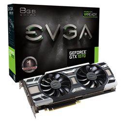 Placa de vídeo GEFORCE GTX 1070 GPU EVGA GAMING ACX 3.0 8GB DDR5 256BITS - 08G-P4-6171-KR