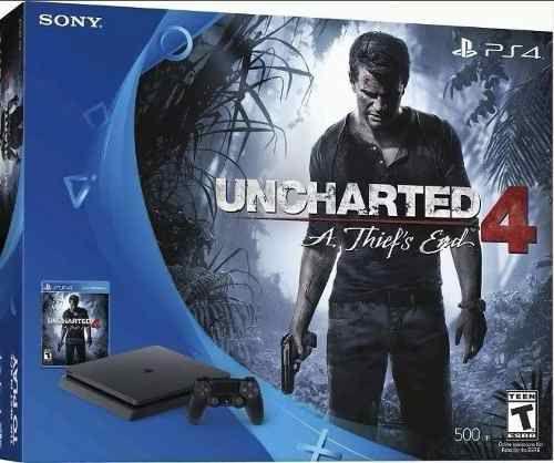Console Playstation 4 SLIM 500gb + Uncharted 4 - Melhor preço do Brasil - Importado Mod 2015a - OFERTA ESPECIAL